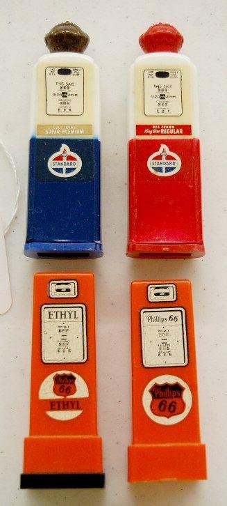 8: 2 Pair Petroleum Plastic Salt & Pepper Shakers