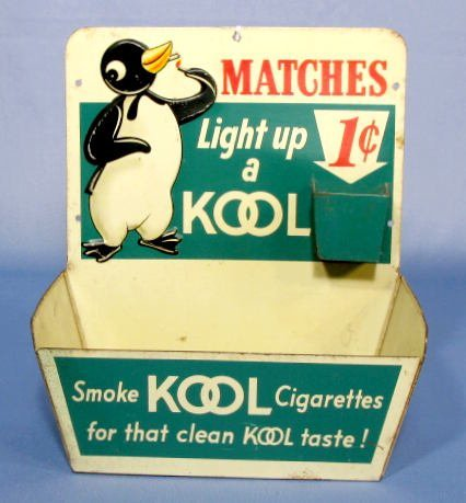 16: Tin Litho Kool Penny Match Book Container
