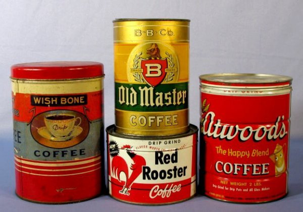 18: Group of 4 Coffee Containers