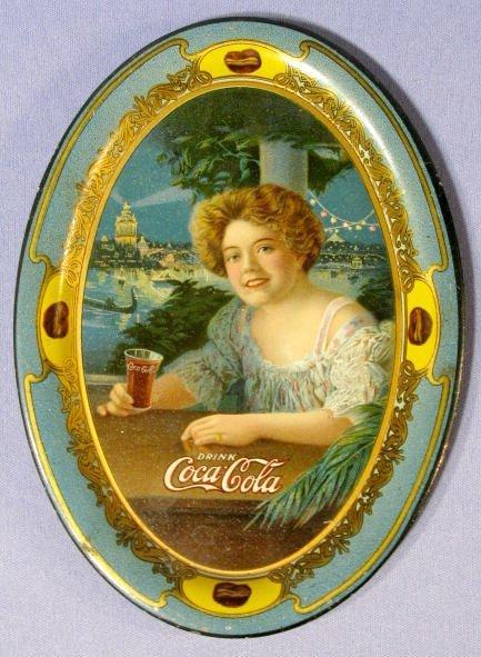 226: Coca Cola 1909 Tin Litho Tip Tray