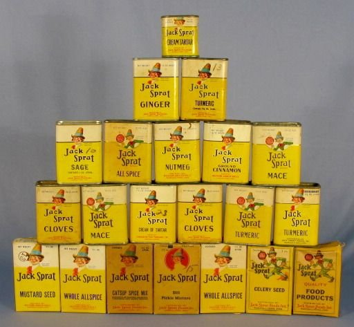 12: Group of 21 Jack Sprat Spice Containers