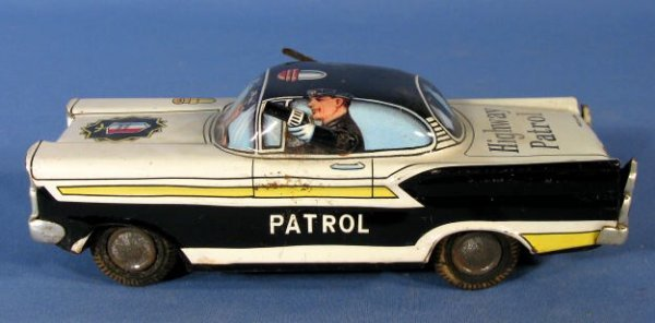 19: Highway Patrol Tin Friction Toy Car