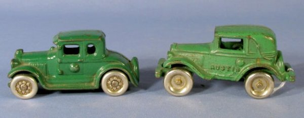 20: 2 Arcade Cast Iron Toys: Austin Roadster & Coupe