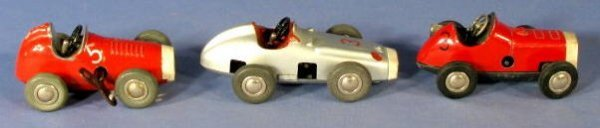 23: Group of 3 Schuco Key Wind Micro Racer Toys