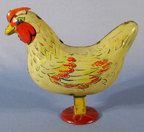 42: Wyandotte Egg Laying Chicken Tin Toy - 2