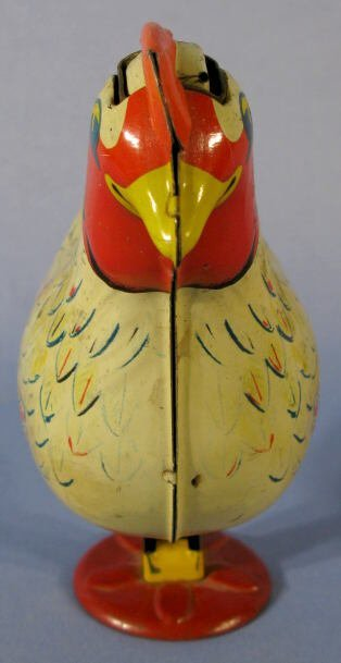 42: Wyandotte Egg Laying Chicken Tin Toy - 3