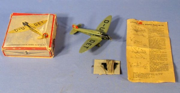 "84: Lehmann German ""D-UDET"" Toy Airplane"