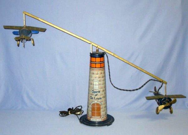 185A: Spirit of St.Louis Airplane Tin Litho Toy