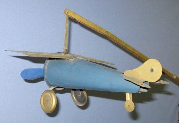185A: Spirit of St.Louis Airplane Tin Litho Toy - 2