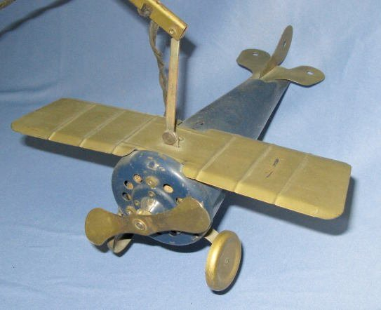 185A: Spirit of St.Louis Airplane Tin Litho Toy - 3