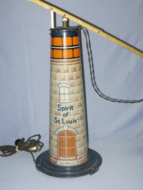 185A: Spirit of St.Louis Airplane Tin Litho Toy - 4