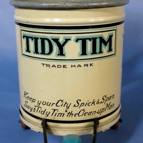 "217: Marx  ""Tidy Tim"" Street Cleaner Tin Windup Toy - 3"