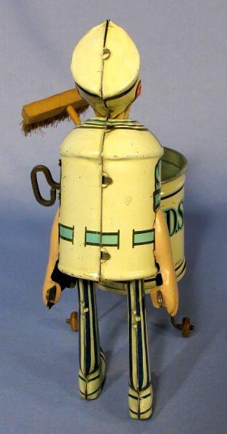 "217: Marx  ""Tidy Tim"" Street Cleaner Tin Windup Toy - 5"