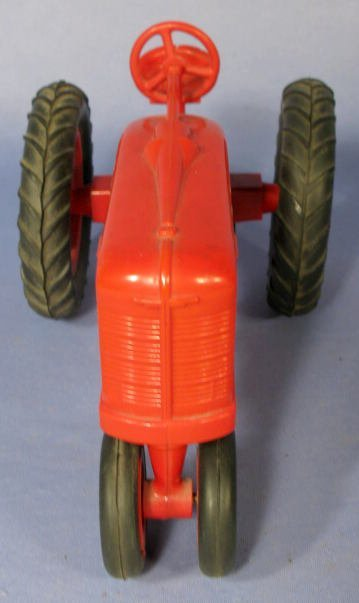 228: Farmall Red Hard Plastic Toy Tractor - 2