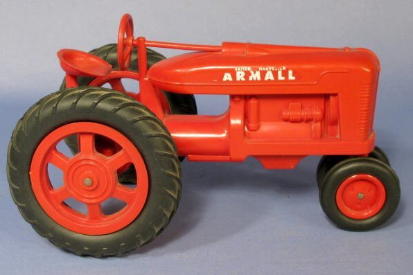 228: Farmall Red Hard Plastic Toy Tractor - 3