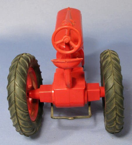 228: Farmall Red Hard Plastic Toy Tractor - 4