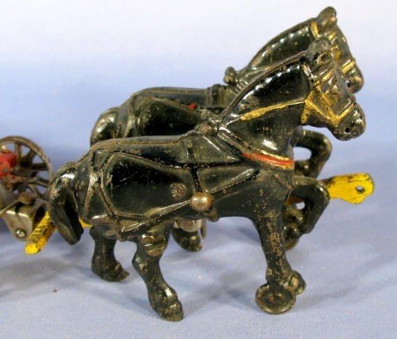 342: Arcade Horse Drawn Manure Spreader Cast Iron Toy - 2