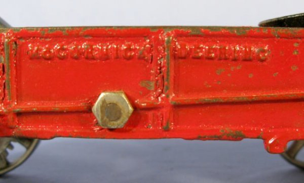 342: Arcade Horse Drawn Manure Spreader Cast Iron Toy - 3