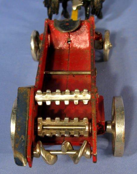 342: Arcade Horse Drawn Manure Spreader Cast Iron Toy - 5