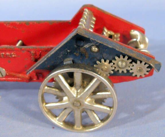 342: Arcade Horse Drawn Manure Spreader Cast Iron Toy - 6