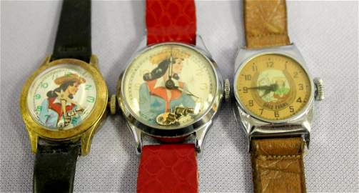 3 Dale Evans Wrist Watches