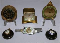Cufflink watches, Pill Box and Mini Clocks