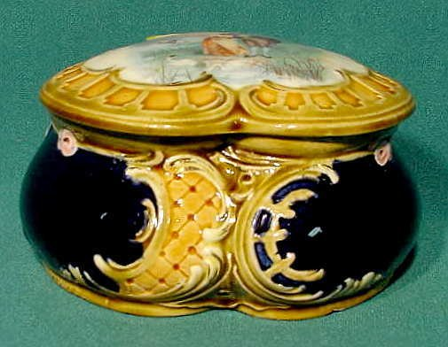 2504: Central European Looking Covered Ceramic Box NR