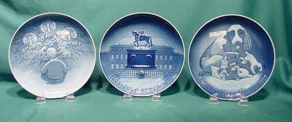 2509: 6 B&G Christmas Jubilee Plates NR