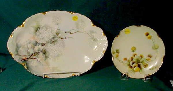 2512: Haviland France Hand Painted Platter/Plate NR