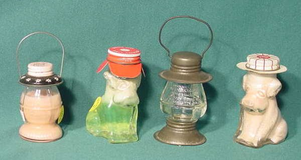 2515: 4 Figural Glass Containers: Jeanette Mary Lowell