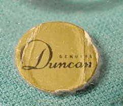 2523: Duncan Glass Dealer Display Sign NR - 2