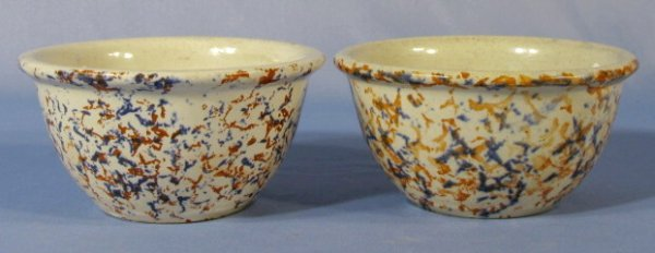 10: 2 Western #5 Sponge Stoneware Bowls