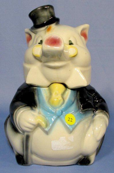 22: Brush McCoy Formal Pig Cookie Jar