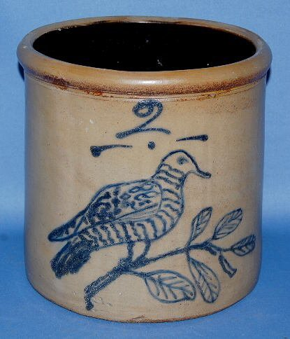 171: Rare Minnesota Stoneware Co. 2 Gal. Crock