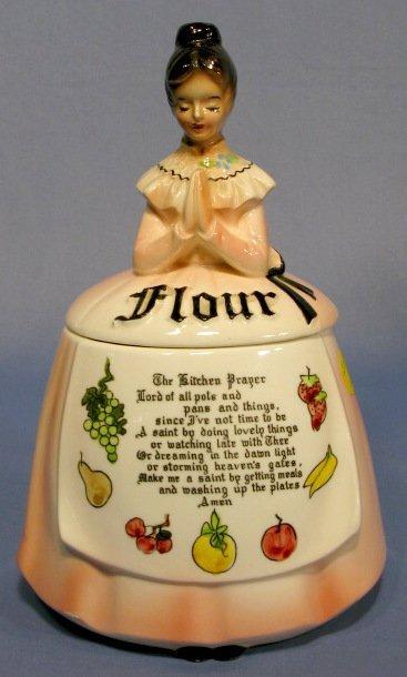 277: 6pc Enesco Kitchen Prayer Lady Canister Set - 5