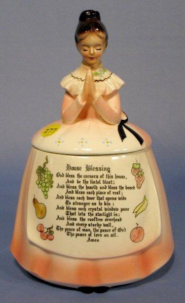 277: 6pc Enesco Kitchen Prayer Lady Canister Set - 8