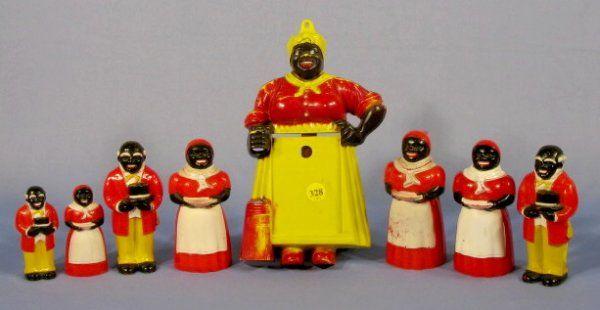 Group of 8 F&F Co. Aunt Jemima Hard Plastic Items