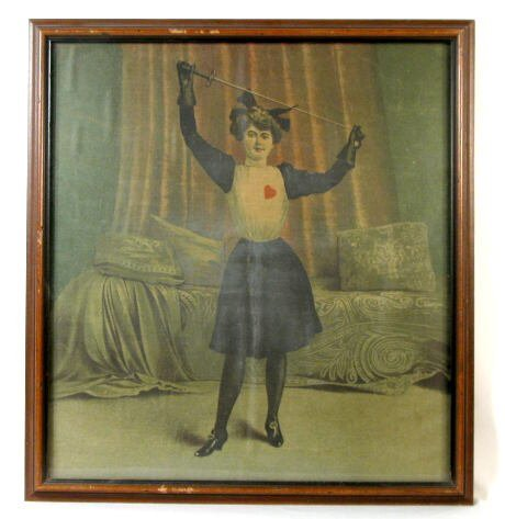 10: Cloth Picture of A female Fencer