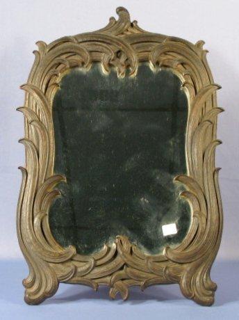 14: Scrolling Leaf Wall Mirror w/Flat Glass