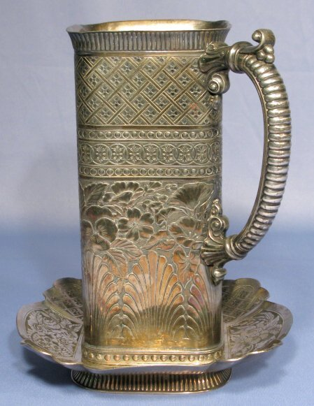 19: Tufts Silverplate Pitcher & Tray Design No.2305