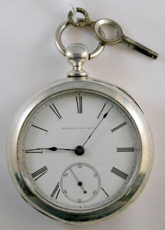 1: Illinois 11J 18S Open Face Coin Pocket Watch