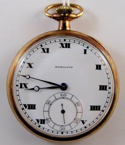3: Hamilton 920 12S 14K Pocket Watch