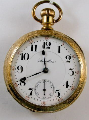 7: Hamilton 17J 18S Keystone Pocket Watch