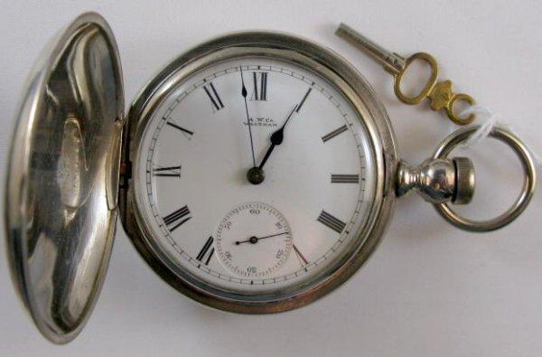 8: AM. Waltham Champion Coin Pocket Watch