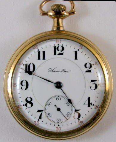 10: Hamilton 972 17J 16S Pocket Watch