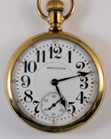 11: Hamilton 974 17J 16S Open Face Pocket Watch