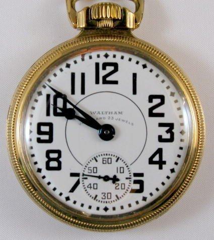 12: Waltham Vanguard 23J 16S Pocket Watch