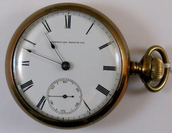 19: American Waltham 11J 18S Pocket Watch