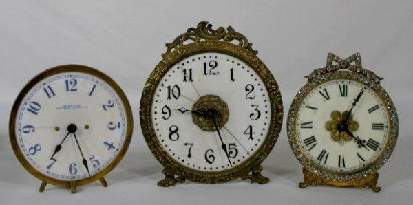 5: Group of 3 Night Clocks w/Luminous Dials