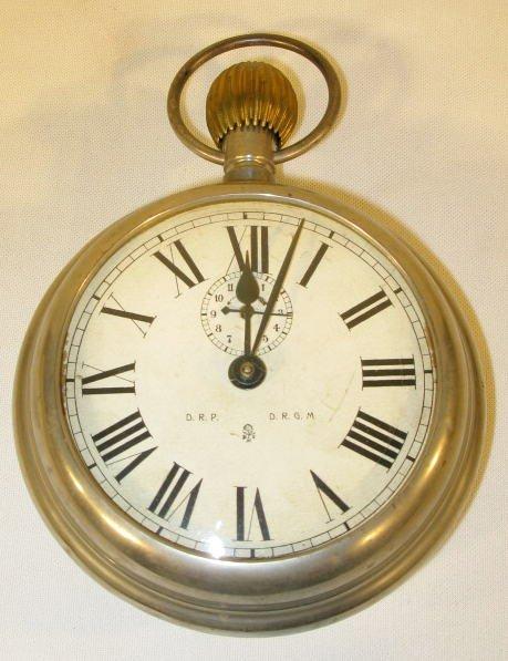 6: German Key Wind Figural Alarm Clock